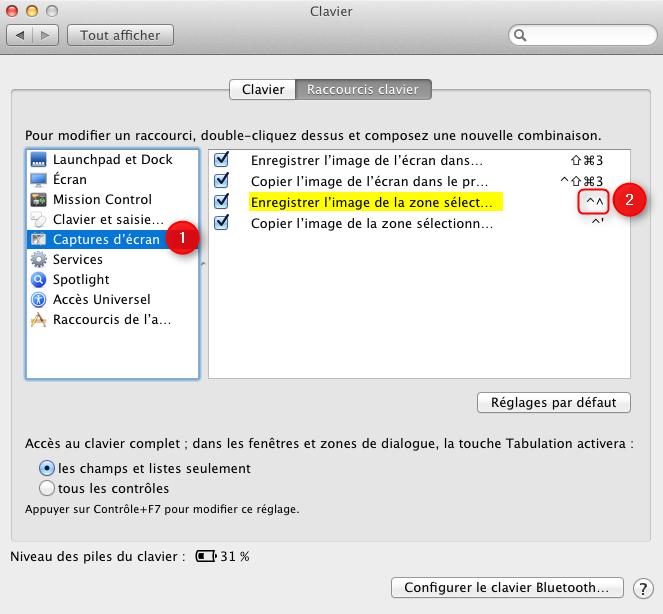 raccourcis clavier mac os x pdf