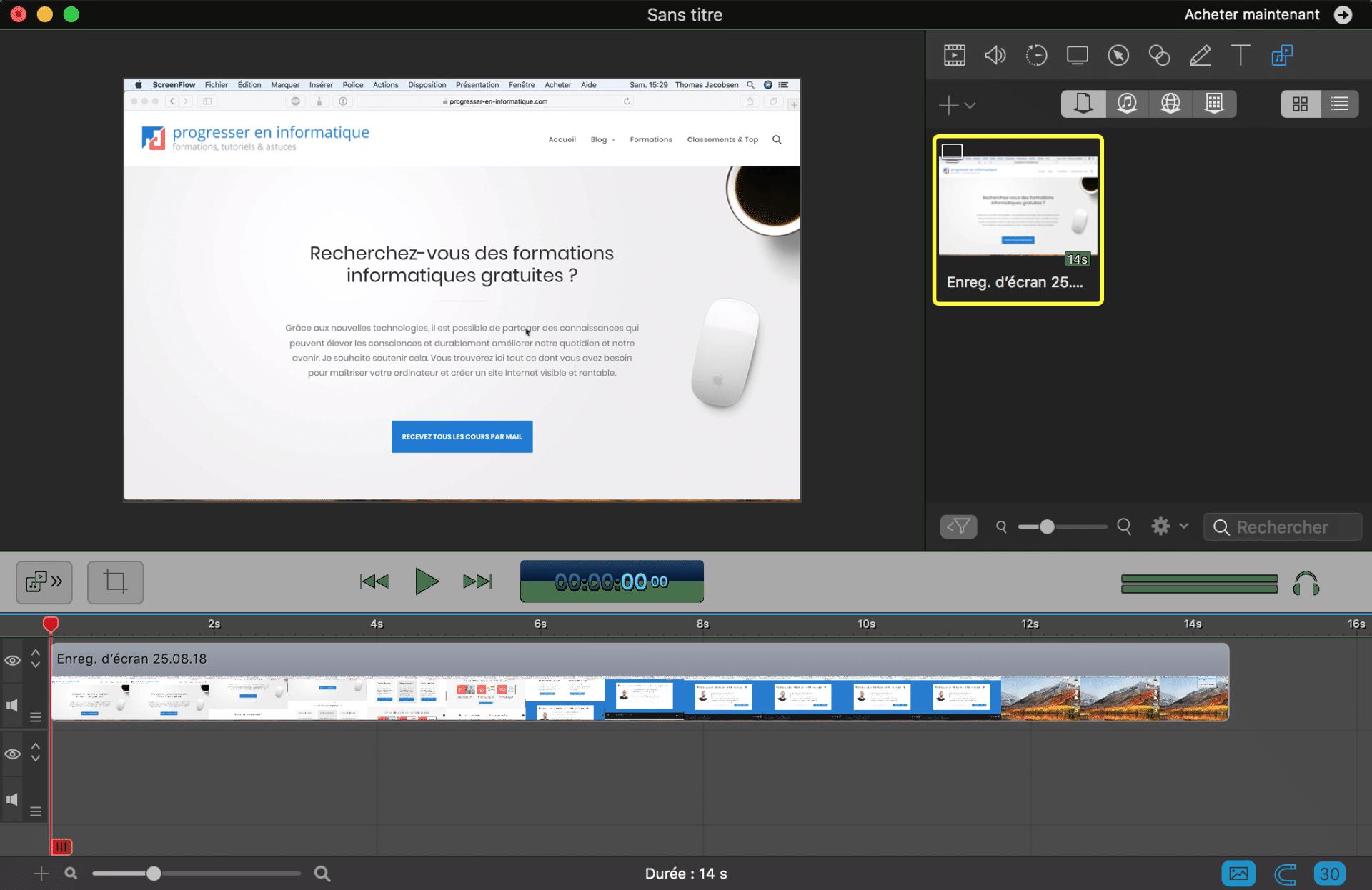 logiciel pour faire une intro mac