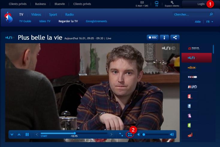Regarder la TV sur internet avec Swisscom TV online