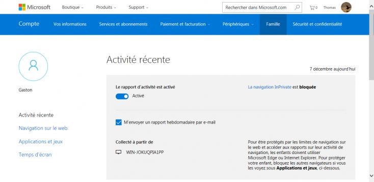 Contrôle parental de Windows Live Essentials 2012